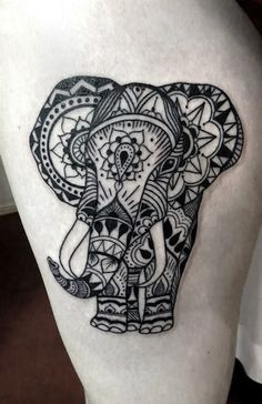 elephant henna tattoos egodesigns