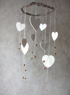 Valentine's+Day+Decoration+Heart+Mobile+Home+Decor+by+YourZenZone,+$43.00