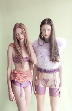 bizarrefashiontriangle111:  pastel lingerie