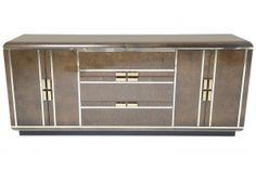 Romweber Maple Burl Sideboard with Brass Trim 2