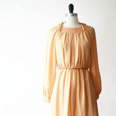 Vintage Dress Japanese// 70s Dress// Mandarin by StandardVintage, $64.00