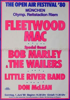 Bob Marley And The Wailers - Voice Of The Sufferers - Memorabilia Tour Posters Tour Posters, Band Posters, Little River Band, Bob Marley Pictures, Cd Art, The Wailers, Air Festival, Fleetwood Mac, Concert Posters