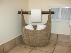 Thirty One basket with toilet paper....what a great idea! www.mythirtyone.com/rancourt