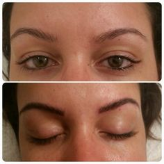 Raised arches, filled brow with 3D eyebrow embroidery by Christopher Drummond www.miamibrows.com | Yelp