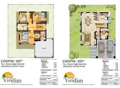 2 Storey House Design, Modern Asian, Ground Floor Plan, Model Homes, Pallet Furniture, House Floor Plans, Detached House, Second Floor, Flooring