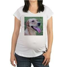 5 yellow lab Maternity T-Shirt > Labrador Retriever > Paw Prints