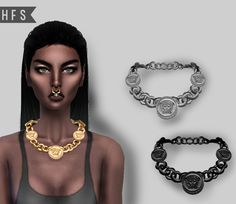 VERSACE NECKLACE • New mesh • Custom thumbnail • 3 models • Read terms of use…