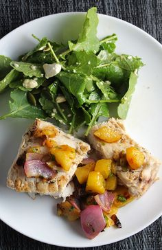 Grilled Swordfish with Pineapple Salsa for #SundaySupper.