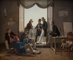 A Group Of Danish Artists In Rome Constantin Hansen Oil Painting 1837 http://ift.tt/2D7ZAjj