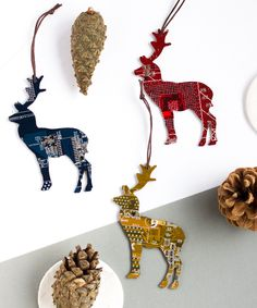 Deer Christmas Tree ornament