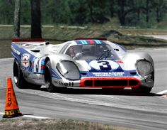The Martini 917K winds through the Green Park Chicane
