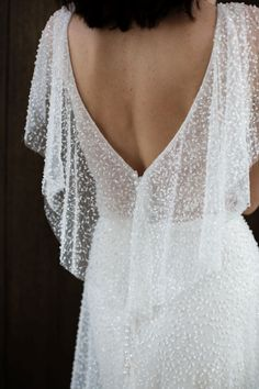 Caccini embellished mesh wedding dress by Hera Couture, photography by Bek Smith