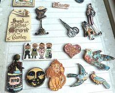 Crafty Secrets Vintage Paper Crafts-shrink images using stamps