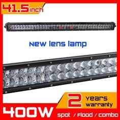 41.5inch 400w New Lens LED Light Bar Truck Tractor ATV 4X4 Offroad Light Bar LED Worklights Fog External Light seckill 180w 240w