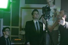 """Nick Pitera with Peter Hollens - filming the """"Wicked Medley"""""""