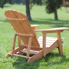Coral Coast Big Daddy Reclining Tall Wood Adirondack Chair with Pull-out Ottoman - Adirondack Chairs at Hayneedle #AdirondackChair