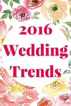 The 2016 wedding trends have been announced! Don't forget personalized napkins for all of your major wedding events! Engagement parties, showers, and the reception! www.napkinspersonalized.com
