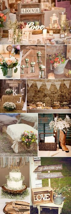 Rustic Fall Barn Wedding Wood Themed Decoration Ideas