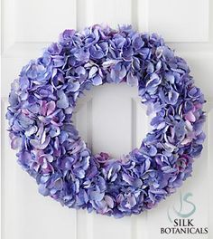 Jane Seymour Silk Botanicals Hydrangea Wreath.  $114.99 I am surprised that floral com don't sell more real floral wreaths for special occasions, instead of bouquets