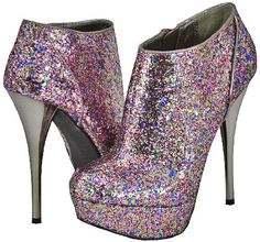 """http://stansmarketing.com/qupid-neutral-237-fuchsia-women-ankle-boots-10/ Shimmer in style with this fabulous ankle boot featuring a glittery upper over a covered platform and skinny stiletto heel for a look that wows. Heels 5.5"""" Platform 1.5"""" Sizing Info: Runs small"""
