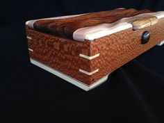 Decorative Boxes : Beautiful combination of leopardwood and maple in this box -Read More – Woodworking Box, Woodworking Projects, Quick Diy Jewelry, Decorative Objects, Decorative Boxes, Box Maker, Bandsaw Box, Wooden Jewelry Boxes, Small Boxes