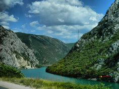 Neretva river, somewhere in Bosnia and Herzegovina, photo from the bus,  Nikon Coolpix L310, 10.2mm, 1/500s, ISO80, f/3.8, -0.7ev, HDR-Art photography, 201607101427