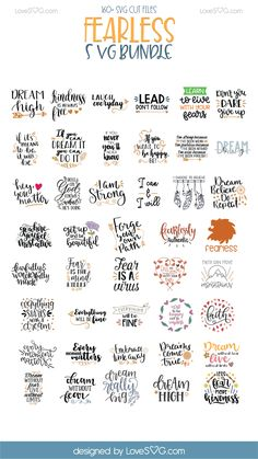 Fearless SVG Bundle - LoveSVG - Over 160 SVG Cut Files - 97% OFF ! #Cricut #SVG #silhouette #fearless #SVGCutFiles