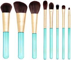NABLA - ESSENTIAL BRUSH SET -- AQUAMARINE Brush Sets, Beauty, Beauty Illustration