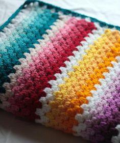 Rainbow Granny Stripe Pattern set, Crochet blanket and Scarf patterns, crochet baby blanket pattern Crochet Afghans, Granny Stripe Blanket, Slip Stitch Crochet, Striped Crochet Blanket, Baby Afghan Crochet Patterns, Rainbow Crochet, Granny Square Crochet Pattern, Baby Afghans, Crochet Baby