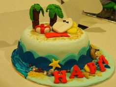 Birthday cake for a surfer boy