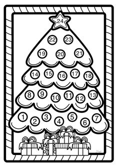 advent calendar coloring page - Advent Coloring Pages