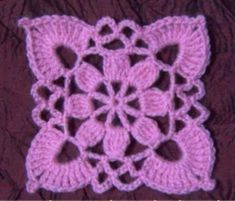 Discover thousands of images about Crochet Edging Cuadradito Granny Square Crochet Pattern, Crochet Flower Patterns, Crochet Squares, Crochet Granny, Crochet Motif, Crochet Doilies, Easy Crochet, Crochet Flowers, Crochet Lace