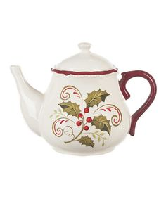 Take a look at this Holly Days Teapot by GANZ on #zulily today!