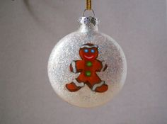 Handmade Glass Glitter Christmas Ornament Everything Is Inside, No More Glitter On The Floor!  We do personalize at no extra charge!