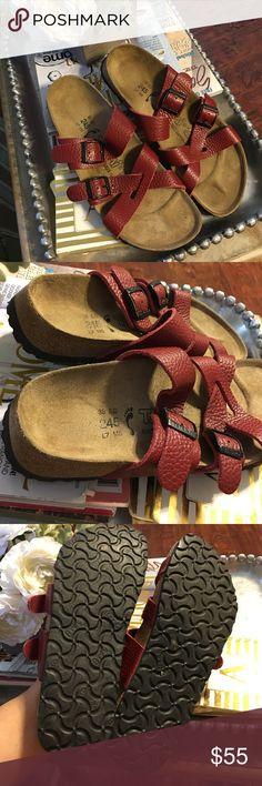 Tatami Birkenstock red leather size 38 Good condition red leather is in perfect condition. Tatami Shoes Sandals