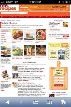 Diabetes - Diabetic Recipes www.myrecipes.com...