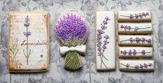 Lavender Flower Cookies