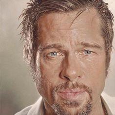 Sebastian Krüger - 'Brad' - Acrylic on canvas: 60 x 60 cm (23.6 x 23.6 inches).  Like ·