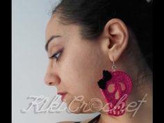 Crochet Skull Earrings! A fun, easy, rock project!