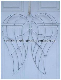 Angel Wings Wire Wreath Form by dottiedot05 on Etsy