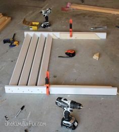 Disguise your AC with a DIY Louvered Screen via www.TheKimSixFix.com