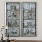 Found it at Wayfair - Architectural Survey by Grace Feyock 2 Piece Painting Print on Shadow Box Set