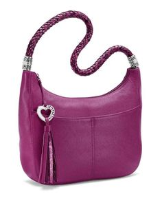 This pink Barbados leather bag from Brighton is perfect for date nights and  spring  springpursesandhandbags d1f4fcdb53474