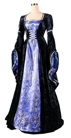 medival dresses | Dress - Ladies Medieval Renaissance Costume and Headdress - Medieval ...