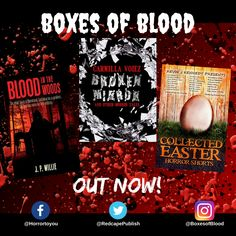 Hand-picked horror, delivered to your door. Featuring the best independent and small-press horror writers working today. Carmilla, Horror Books, Work Today, Writers, Blood, Boxes, Crates, Box, Authors