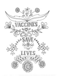 Adult #coloring page for pro-#vaccine advocates. #vaccinessavelives Download high res here: http://www.voicesforvaccines.org/content/uploads/2016/02/vaccines.pdf