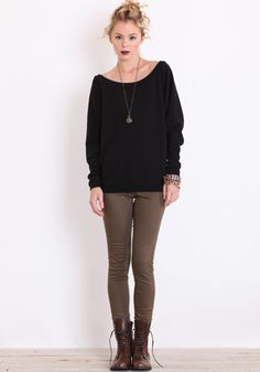 Pullover Oversized Sweater in Black #fashion #style