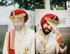 Indian groom is designer turban.