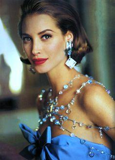 Christy Turlington by Arthur Elgort for Vogue Paris September 1991