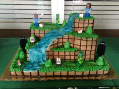 Minecraft Cake (customized at Publix, then added my own Lego builds). Please feel free to contact me with questions and I'm glad to give you any help I can, including the sticker file for the Lego faces! I'm at http://JewelrySugar.com
